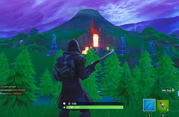 El Volcán, Fortnite temporada 8