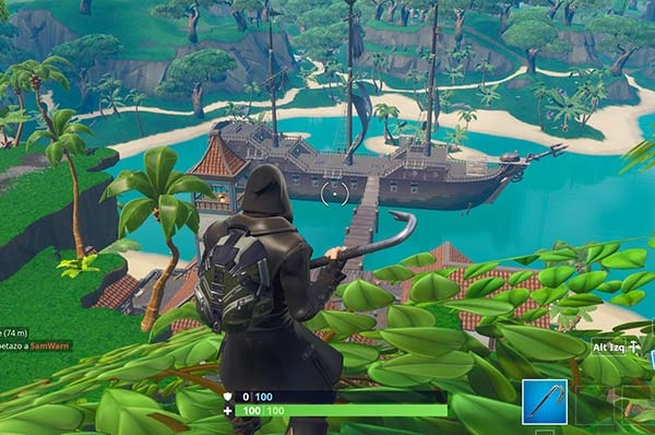 Albuefera apacible en la temporada 8 de fortnite