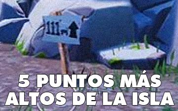 Cinco puntos más altos en la isla de fortnite