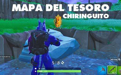 Busca la señal del mapa del tesoro que hay en Chiringuito Chatarra